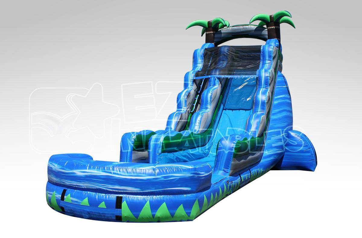 22 blue crush wet dry slide funtime bounce houses